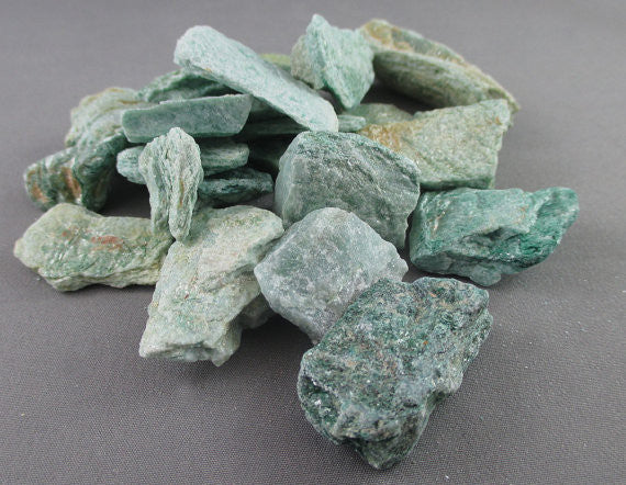 Green Fuchsite Stones Raw 3pcs T224