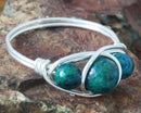 chrysocolla wire wrapped ring