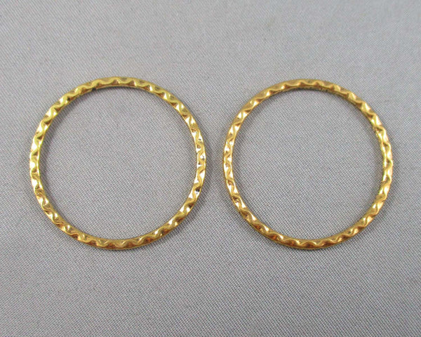 Gold Tone Linking Rings 32mm x 2mm 10pcs (2174)