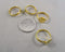 Glue-on Pad Rings Gold Tone 8pcs (0214*)