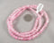 Pink & White Crackle Glass Bead Strand 6mm (1270)