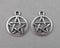 Pentacle Charms Silver Tone 10pcs (1475)