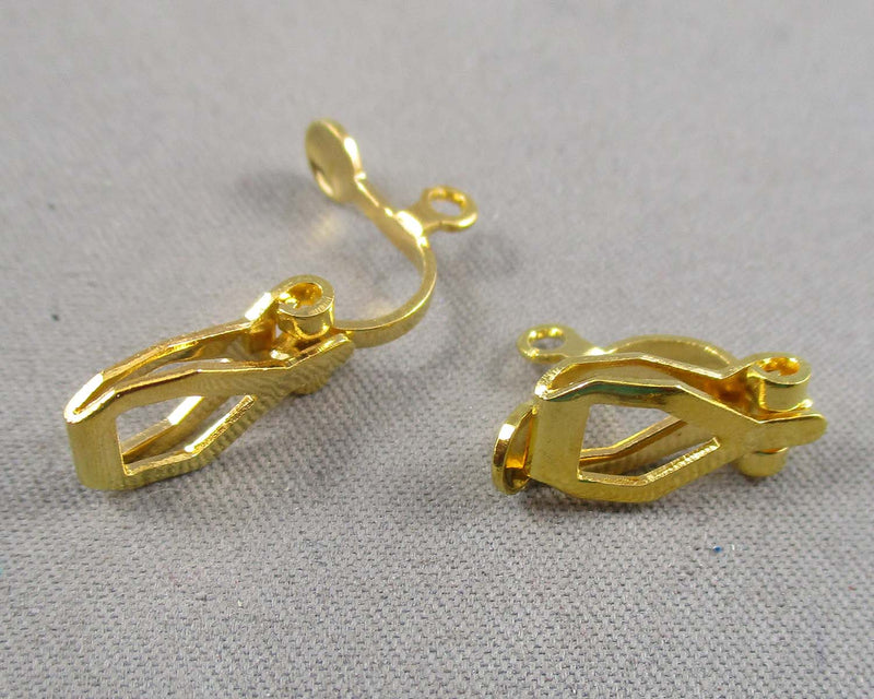 Clip-on Earrings Gold Tone 8 pairs (0207*)
