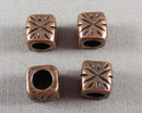 Red Copper Square Spacer Beads 9x9mm 10pcs (1258)