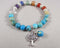 Sea Jasper & Chakra Gemstone Bracelet 1pc (1311)