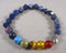Star Cut Sodalite & Chakra Gemstone Bracelet 1pc (1301)