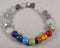 Star Cut Smoky Quartz & Chakra Gemstone Bracelet 1pc (1300)