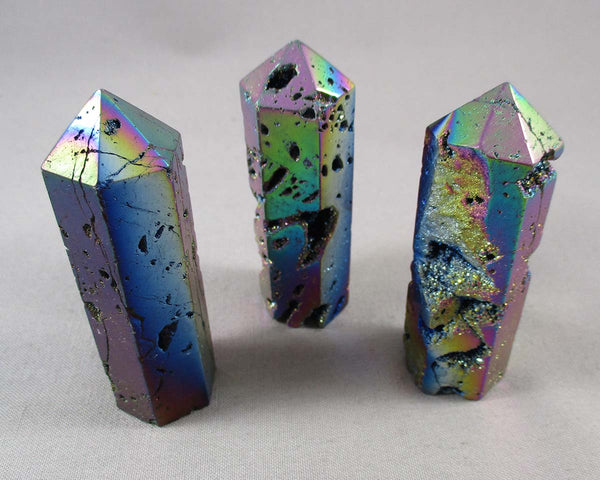 Rainbow Aura Quartz Crystal Point 1pc (1358)