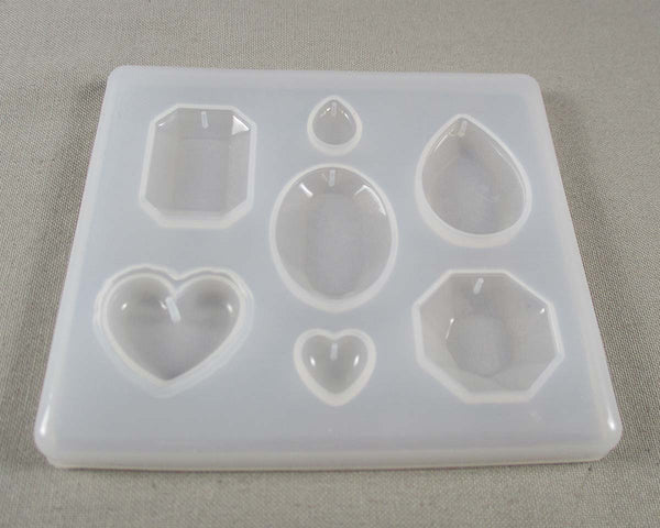 Silicone Resin Mold DIY 7 Mixed Shape Pendants 1pc (1314)