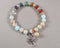 Blue Shoushan Stone & Chakra Gemstone Bracelet 1pc (1371)