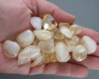 Citrine crystals polished stone