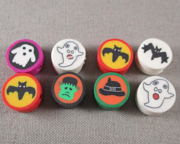 Halloween Polymer Clay Beads Mixed 20pcs (2092)