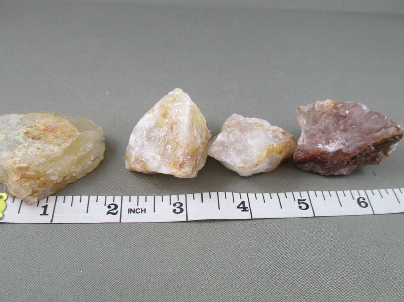 Strawberry Quartz Crystals Raw 3pcs (A361)