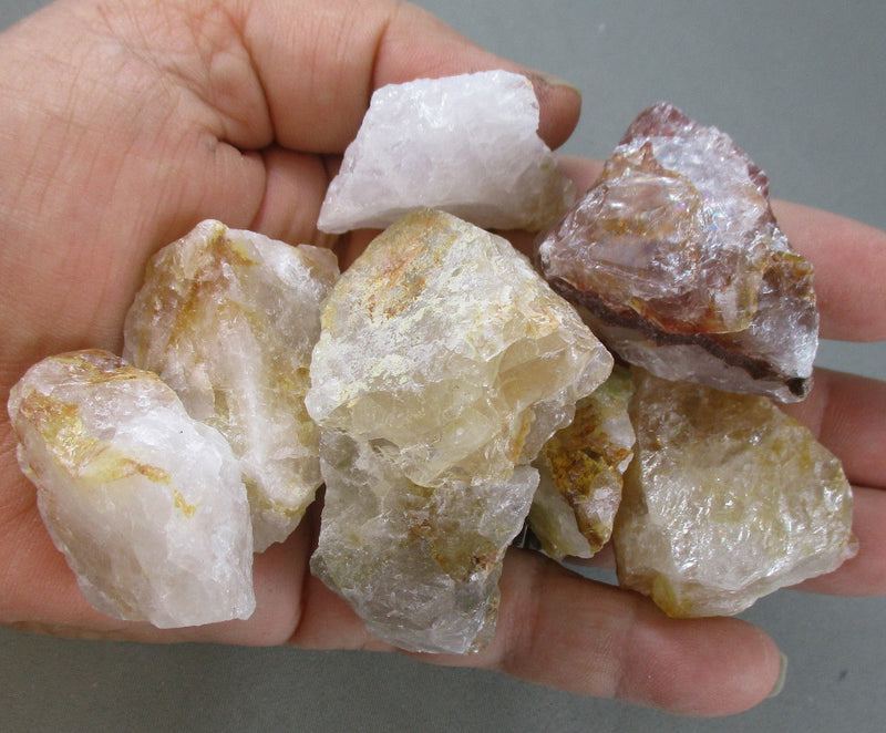 strawberry quartz crystals raw