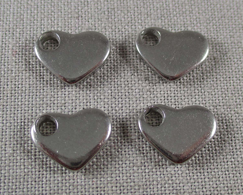 Heart Charms Stainless Steel 10pcs (1447)