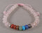 Rose Quartz & Chakra Gemstone Bracelet (Adjustable) 1pc (1464)