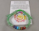 Aventurine & Chakra Gemstone Bracelet (Adjustable) 1pc (1465)