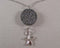 Brown Lava Diffusible Stone Pendant with Star Fish 1pc (Z097)
