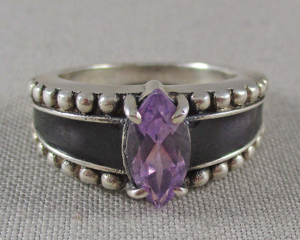 Amethyst Ring Size 6 (925 Sterling Silver) B491-2