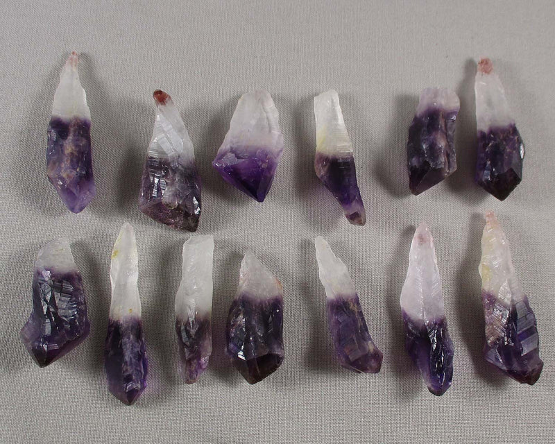 Amethyst Crystal Scepter Points 2pcs Z036