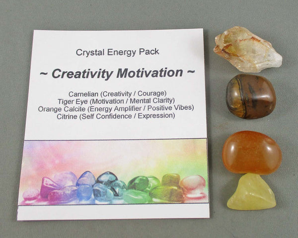 creativity and motivation crystal energy kit