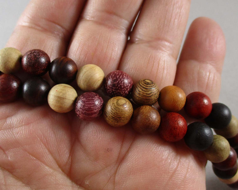 mixed fragrant wood beads