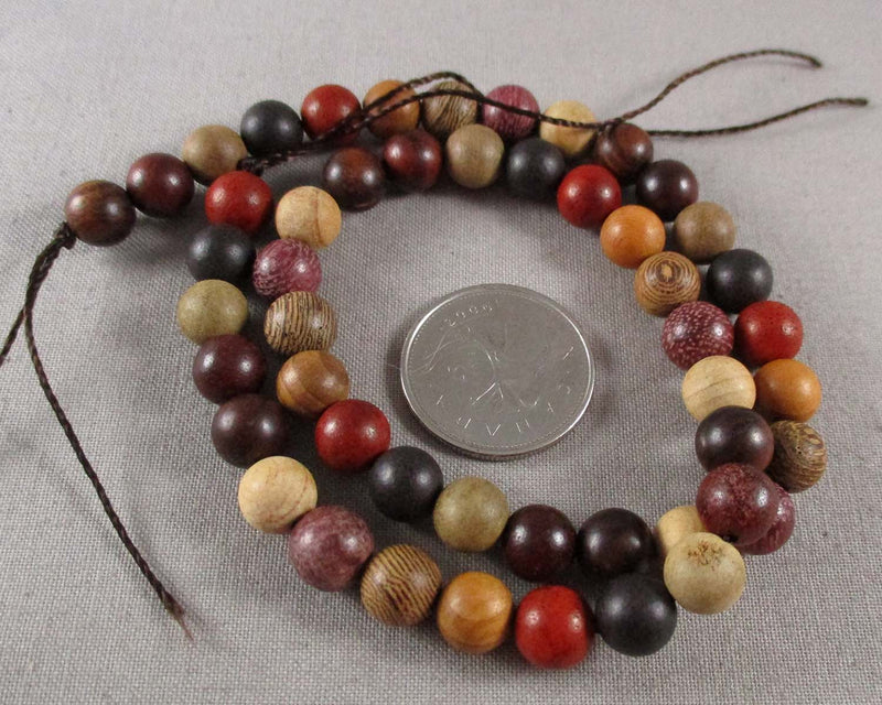 Mixed Fragrant Wood Beads 8mm (1514)