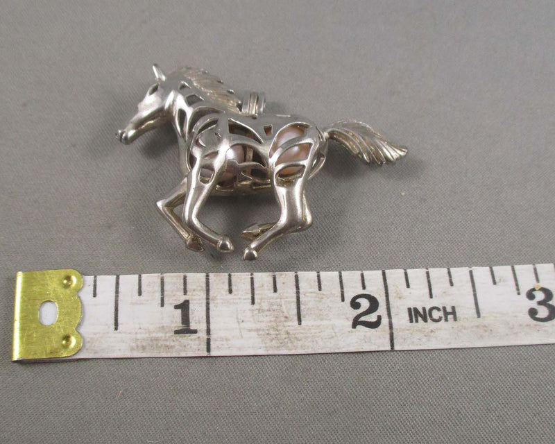 Horse Pendant with Akoya Pearls (925 Sterling Silver) 1pc Z021