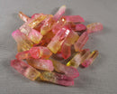 Electroplated Quartz Points (Drilled) Pink & Orange 5pcs (1533)