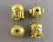 Gold Tone Buddha Head Beads 10.5x8.5mm 6pcs (0456-2)