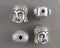 Silver Tone Buddha Head Beads 10.5x8.5mm 6pcs (0456-3)