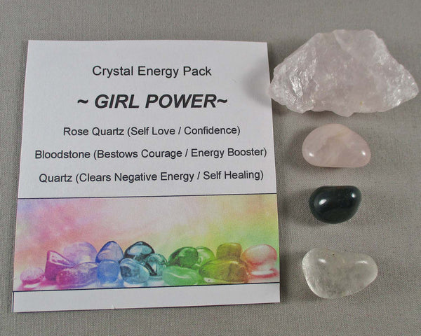 Girl Power - Confidence!  Crystal Energy Kit A010