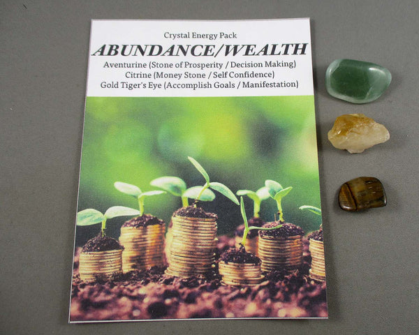Abundance & Wealth! Crystal Energy Kit A031