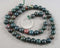 "Indian Bloodstone Beads Round 8mm 15.5"" Strand (1414)"