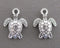 Sea Turtle Charm Silver Tone 14pcs (1549)