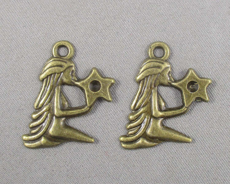Goddess with Star Charm Antique Bronze Tone 20pcs (0421)