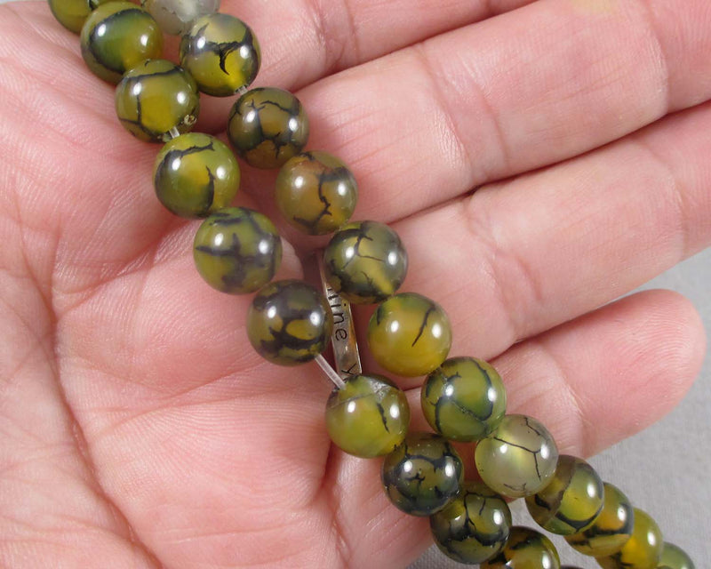 dragon  vein agate beads