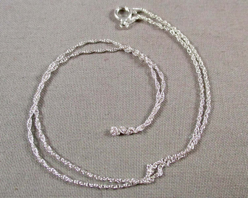 1.1mm Rope Chain Sterling Silver 925 (Various Lengths)