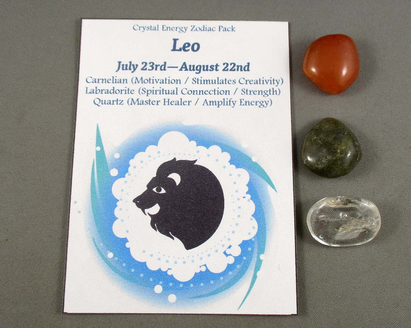 Leo Zodiac Crystal Energy Pack (July23-Aug22) A268