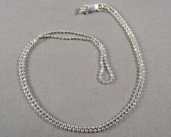 1.5mm Bead Chain Sterling Silver 925 (Various Lengths)