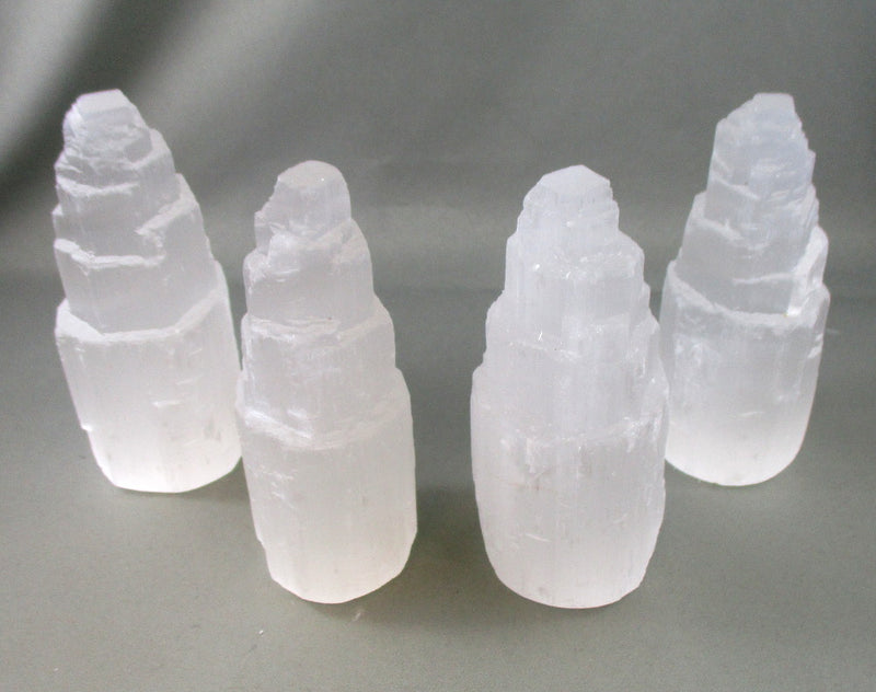 "4"" Selenite Tower 1pc A187"