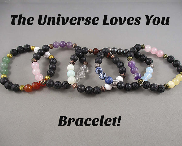 The Universe Loves You!  Gemstone Bracelet A049