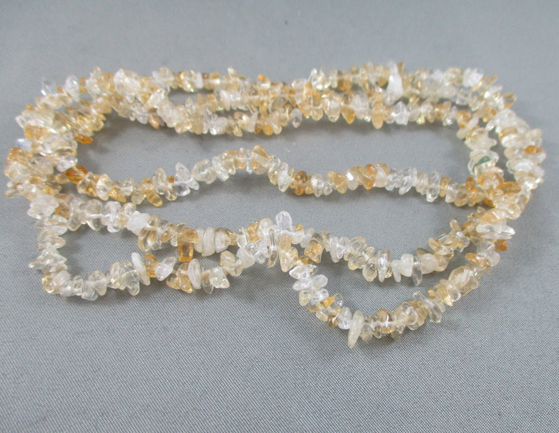 "Citrine Beads Chip Strand 36"" Small (0013-1)"