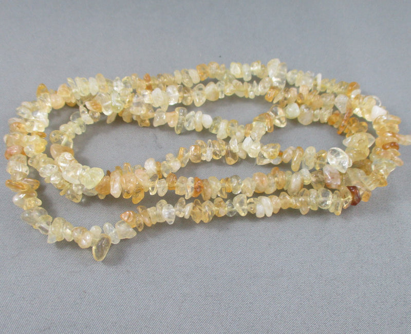 "Citrine Beads Chip Strand 36"" Med (0013-2)"