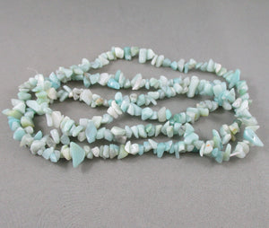 "Amazonite Beads Chip Strand 36"" Med (0016)"