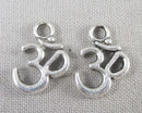 Om Symbol Charms Silver Tone 13x18mm 10pcs (0765)