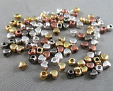 Mixed Color Mini Heart Spacer Beads 3.5x4mm 100pcs (0033-2)