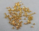 Crimp Beads Gold Tone 2mm 11 grams (0057)