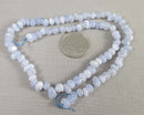 "Blue Lace Agate Beads Chip Strand 15"" Small (1327)"