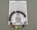 Chakra Stones Essential Oil Diffuser Bracelet (8mm) 1pc T554